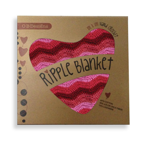 O.B. Designs Ripple Blanket - Berry