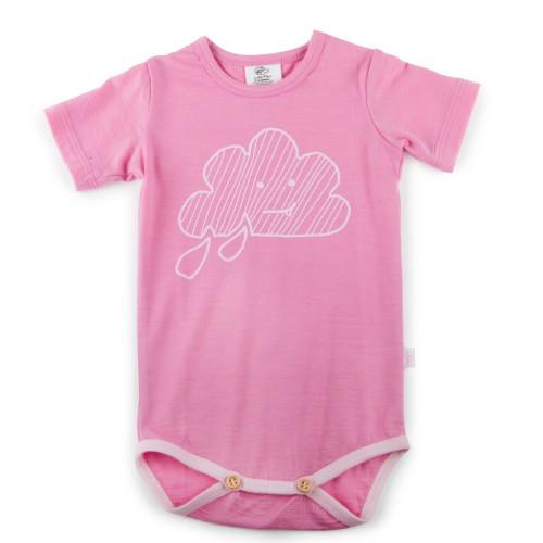 Little Flock of Horrors - Short Sleeve Bodysuit - Chateau Pink (LAST ONE LEFT - SIZE 12-18M)