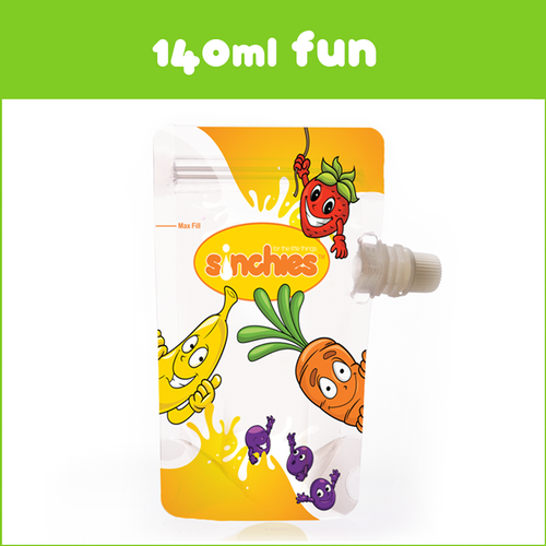 Sinchies 140ml Fun Pouches [FROM $6.50]