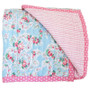 Alimrose Cot Quilt - Reversible Floral and Pink Stripe
