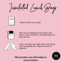 Montii Insulated Lunch Bag - Puppy Dog