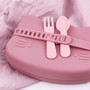 Lunch Punch Spoon & Fork Set - Pink (Set of 3)