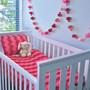 O.B. Designs Pom Pom Garland - Pink Berry