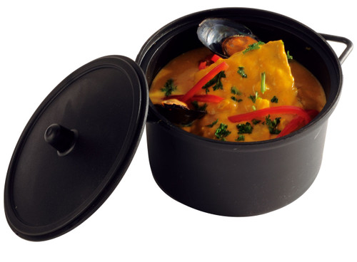 Solia Cooking Pot 22 oz with Lid Black