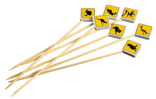 "Solia Bamboo Road Sign 4.7"" Skewers"