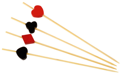 "Bamboo Suits of Cards 4.7"" Skewers (Case of 1,600 pc)"