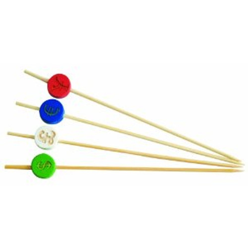 "Solia Bamboo Currency 4.7"" Skewers"