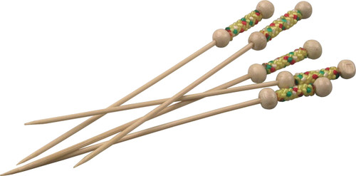 "Bamboo Pearl 4.7"" Skewers (Case of 2,000 pc)"