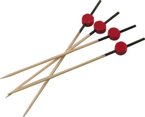 "Bamboo Black & Red 4.7"" Skewers (Case of 2,000 pc)"