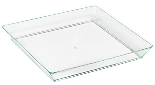 "Quartz 3.5 x 3.5"" Plate Transparent Green (Case of 200 pc)"