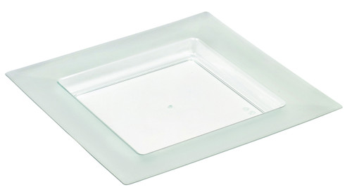 Diamant 6 x 6 Plate Transparent Green (Case of 100 pc)
