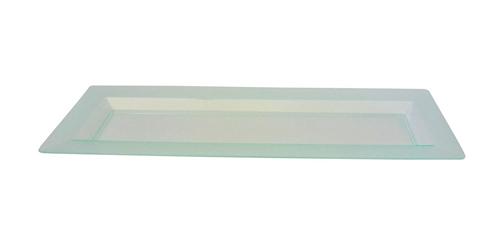 "Solia Diamant 13.2 x 4.4"" Plate Transparent Green"