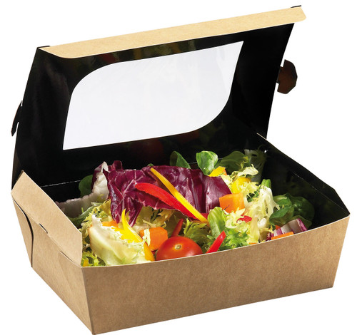 Cardboard 33 oz Freshness Box with Window (Case of 450 pc)
