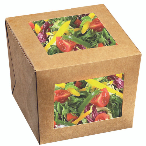 Snacking Cube 22 oz Freshness Box with 2 Windows (Case of 500 pc)