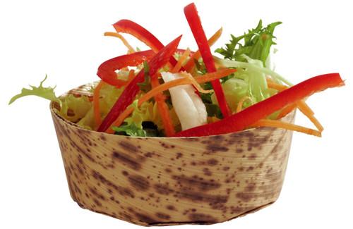 "Solia Bamboo Leaf 2.8 x 2.8 x 1"" Round Mini Dish"