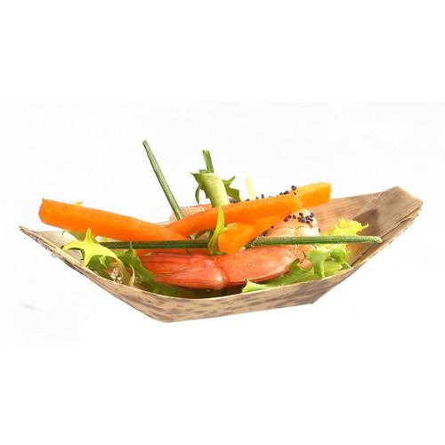 "Solia Bamboo Leaf 4.7 x 2.4 x 1.2"" Boat Dish"