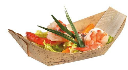 "Solia Bamboo Leaf 7.9 x 4.9 x 2.0"" Boat Dish"