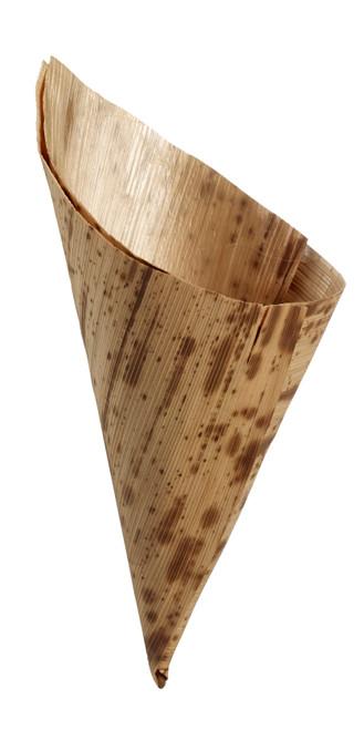 """Bamboo Leaf Cone H 5.1"""" x D 2""""  (Case of 1000 pc)"""