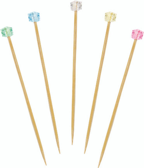 """Solia Lady Cube Bamboo Skewer 4.7"""""""