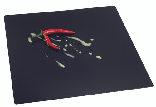 "Solia Fluid Plate Black 7.9"""