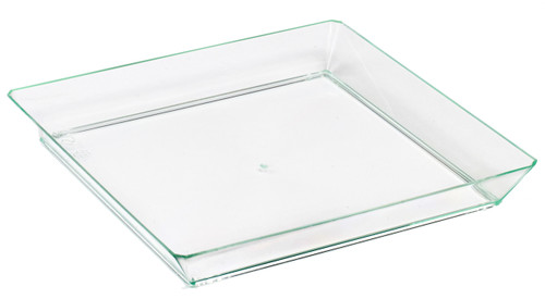 Quartz 6.2 x 6.2'' Plate Clear Green (Case of 200 pc)