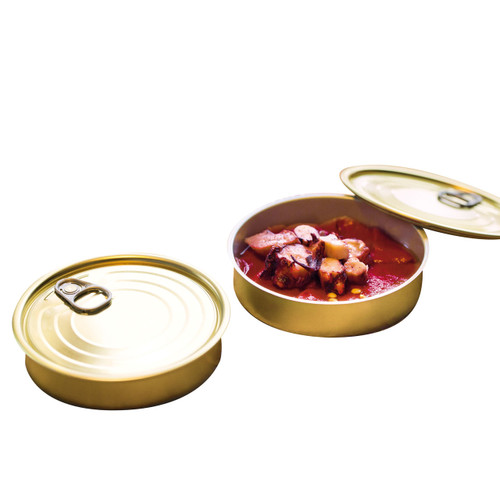 Round Sardine Tin Can with Lid (Case of 240 pc)