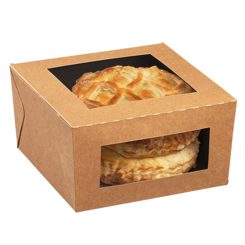 Snacking Cube 25 oz Freshness Box with 2 Windows (Case of 500 pc)