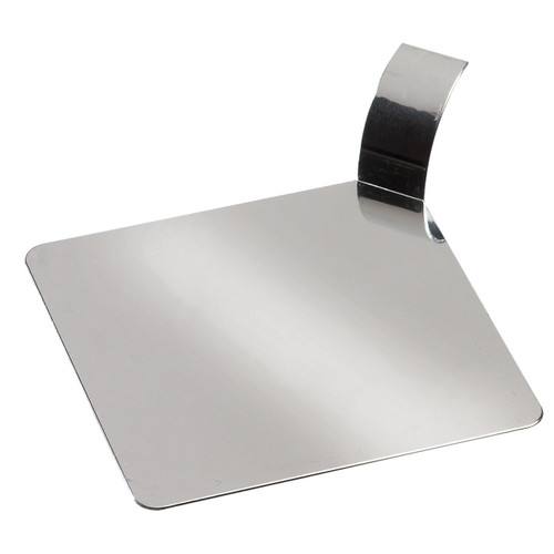 "Solia Square 3.1"" Palet Dish Silver Metallized"