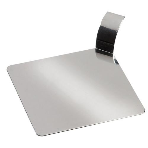"Solia Square 3.1"" Palet Dish Silver Metallized"