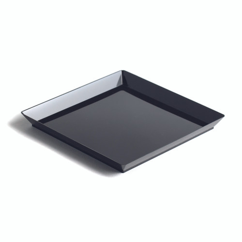 """Diamant 4 x 4"""" Plate Black - LID NOT INCLUDED (Case of 100 pc)"""