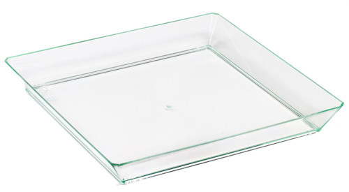 "Quartz Plate Transparent Green 130x130mm / 5.1x5.1"" (Case of 200 pc)"