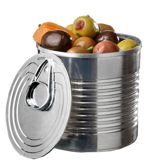 Tin Can with lid 3.7 oz Silver (Case of 200 pc)