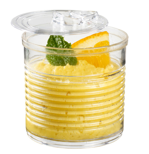 Tin Can with lid 3.7 oz Transparent (Case of 200 pc)