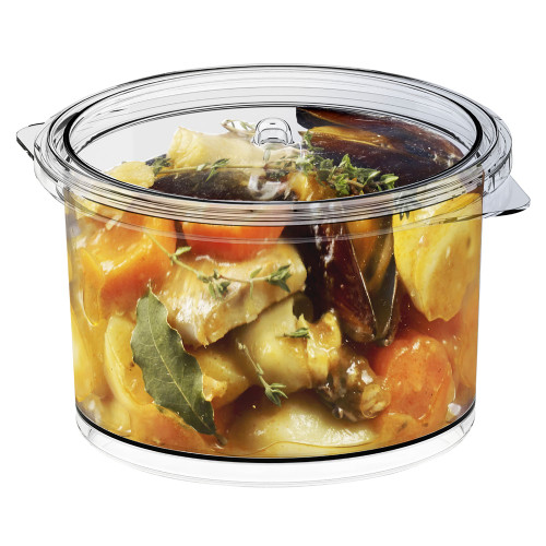 Cooking transparent with lid pot 22 oz, 650ml (Case of 60 pc)