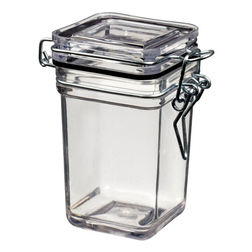 Tradition Jar Square 3.7 oz Transparent (Case of 240 pc)