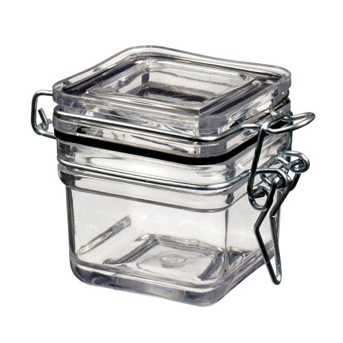 Tradition Jar Square 2 oz Transparent (Case of 240 pc)