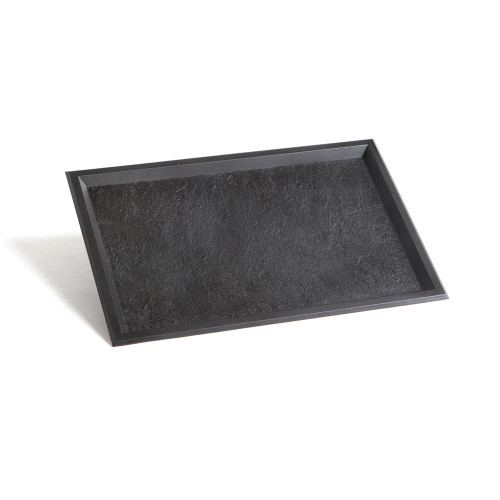 Tray Slate 11.6x7.7 Black (Case of 100 pc)