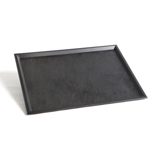"Plastic Tray Slate 15.6"" x 11.6"" Black (Case of 50 pc)"