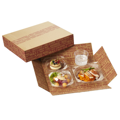 City Cardboard Tray 11.8 x 10.6 x 2.6 (Case of 50 pc)