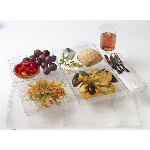 Atlas Tray Five 14.9 x 10.7 x 0.5 Transparent (Case of 25 pc)
