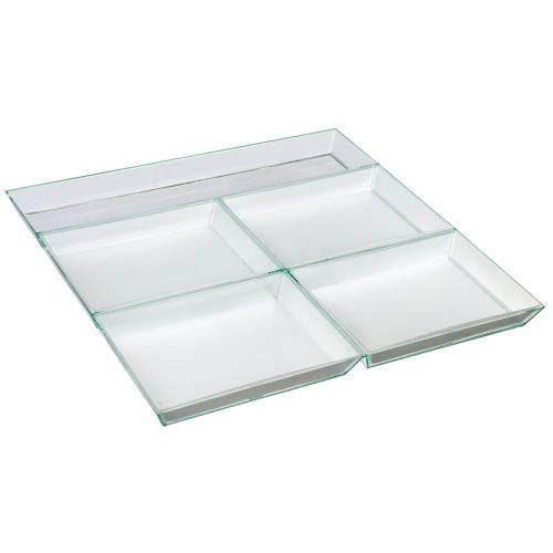 Atlas Tray Five 14.9 x 10.7 x 0.5 White (Case of 25 pc)