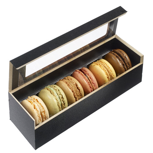 Wooden Case 6 Macaroons with Thermoformed Frames (Case of 25 pc)