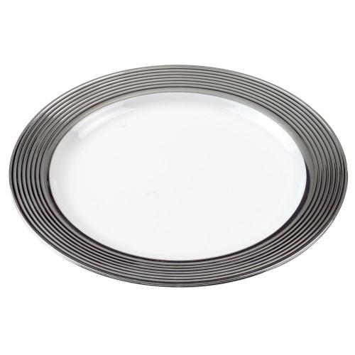 Baroque Round Plastic Plate 9.1 (Case of 120 pc)