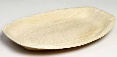 Palm Leaf Oval Plate Maui 13.4 x 9.1 x 1 (Case of 100 pc)