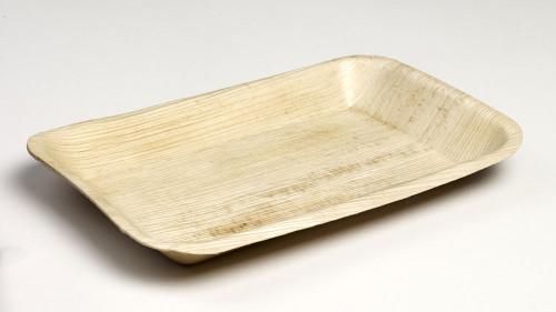 """Palm Leaf Plate Fidji 9.4"""" x 6.3"""" x 1"""" (Case of 100 pc)"""