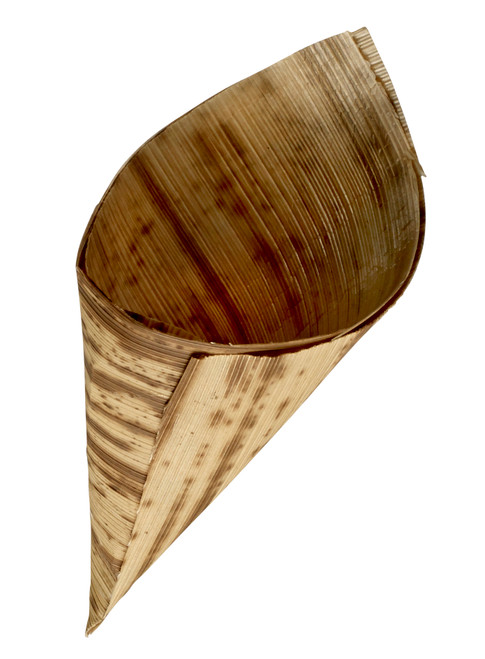 "Bamboo Leaf Cone H 6.7"" x D 2.8"" (Case of 1000 pc)"