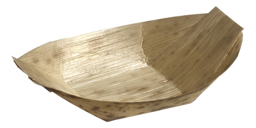 Bamboo Leaf Boat 3.5 x 2.4x 0.5 (Case of 1000 pc)
