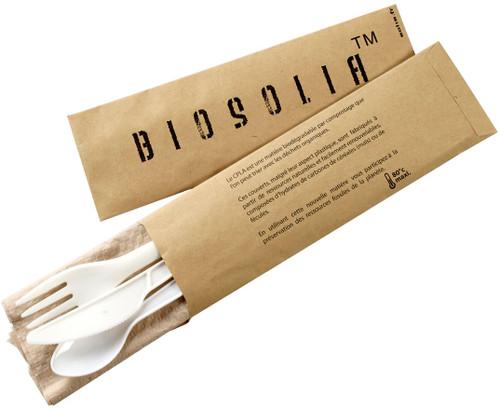 Cutlery Paper Bag Kraft 4/1 cpla