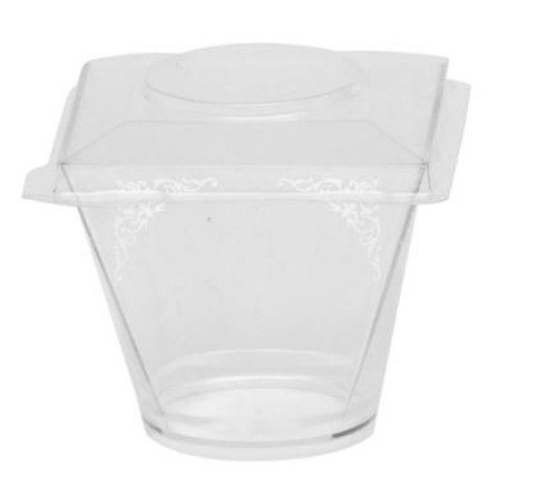 Gustav Transparent 2oz (case of 400) - Lid nit included