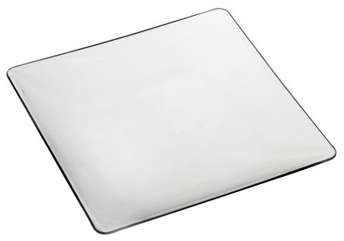"""Fluid 4.3"""" x 4.3"""" Plate Clear Transparent (PL20240)"""